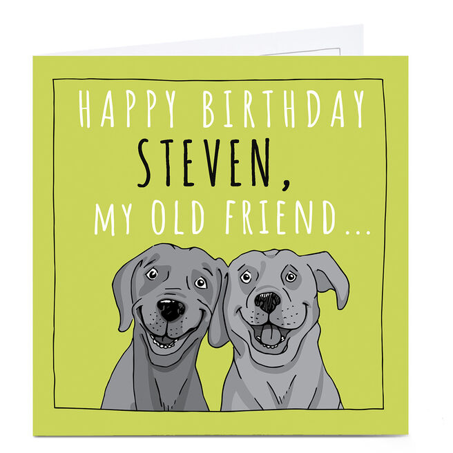 Personalised Totally Pawsome Birthday Card - My Old Friend