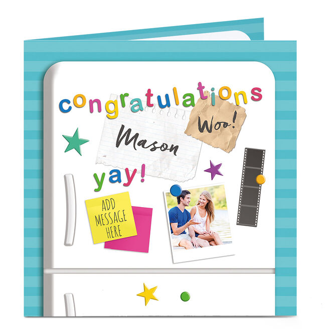 Personalised Congratulations Card - Fridge Front