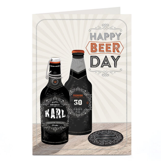 Personalised Any Age Birthday Card - Happy Beer Day