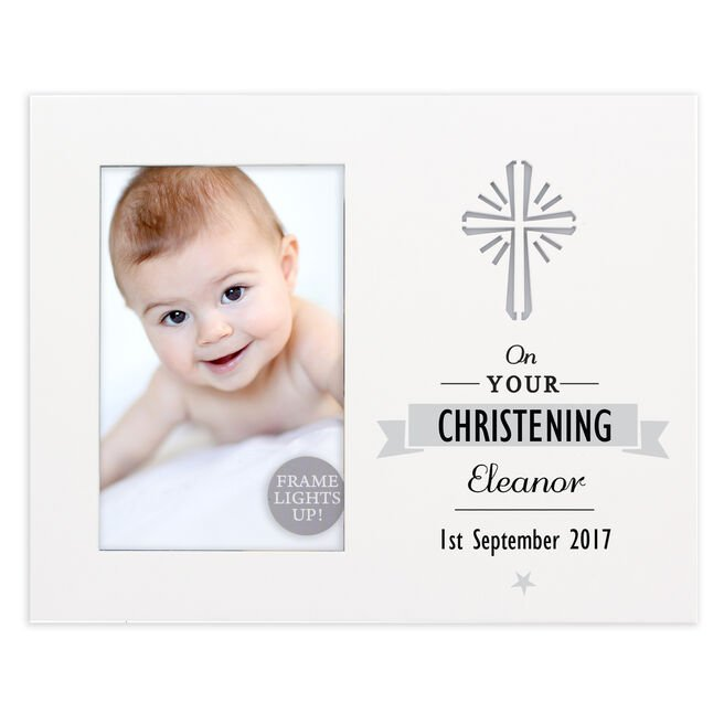 Personalised Light-Up Cross Photo Frame
