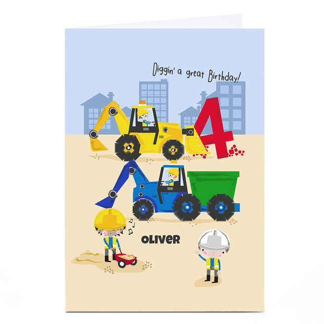 Personalised Rachel Griffin Birthday Card - Diggin' A Great Birthday, 4