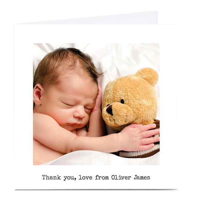 New Baby Photo Card - Thank You