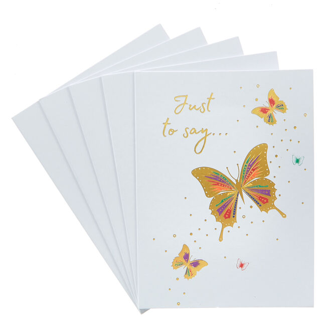 Just To Say Butterfly Cards - Pack Of 12
