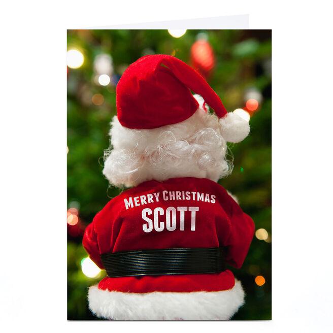 Personalised Christmas Card - Santa's Back
