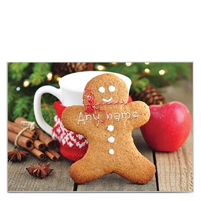 Personalised Christmas Card - Gingerbread Man