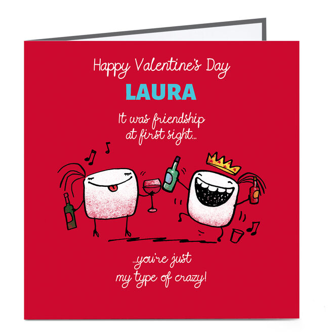 Personalised Valentine's Day Card - It Was Friendship