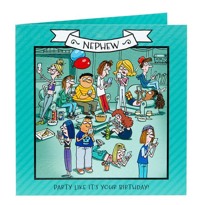 Birthday Card - Nephew, Party