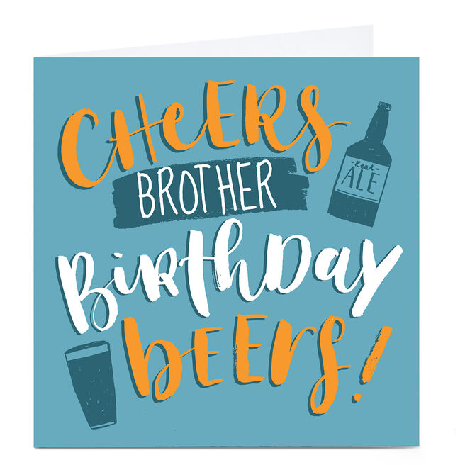 Personalised Nikki Whiston Birthday Card - Brother