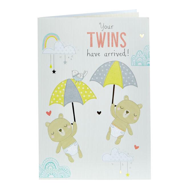 New Baby Card - Your Twins Have Arrived