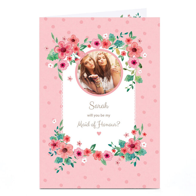 Photo Wedding Card - Will you be my Maid of Honour?
