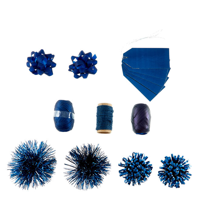Christmas Wrap Accessory Pack - Navy