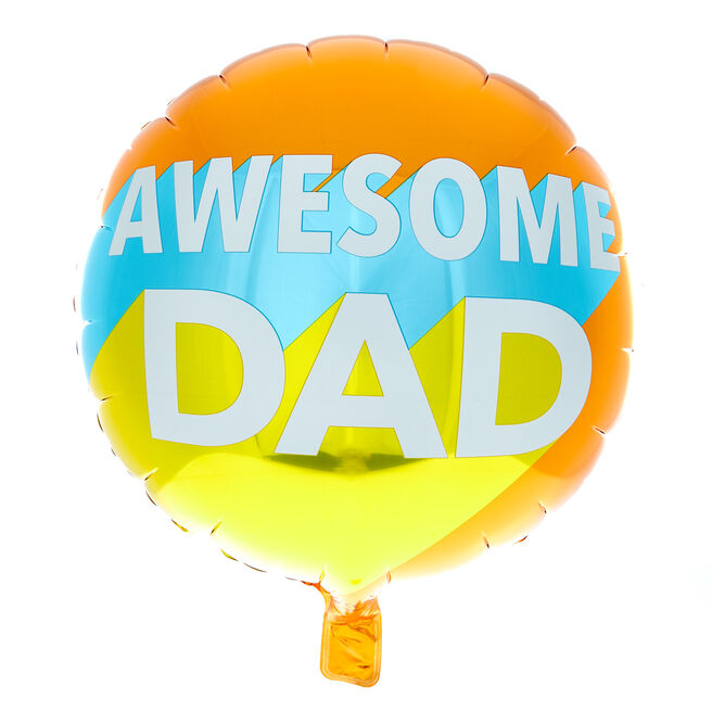 Awesome Dad 18-Inch Foil Helium Balloon