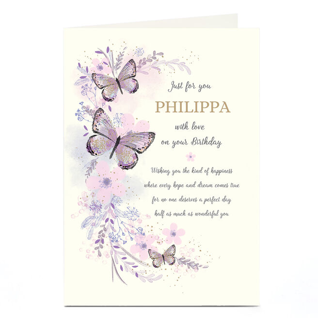 Personalised Birthday Card - Best Wishes