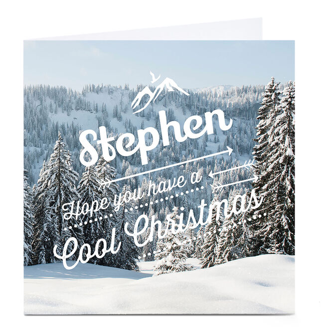 Personalised Christmas Card - Cool Christmas