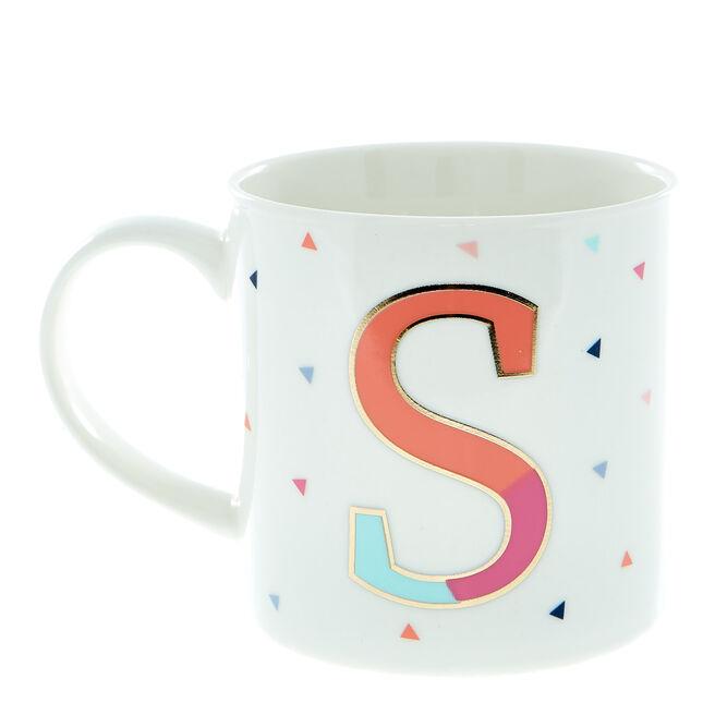 Letter S Alphabet Mug