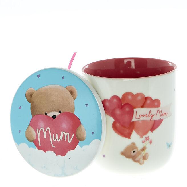 Hugs Bear Lovely Mum Mug & Coaster Set