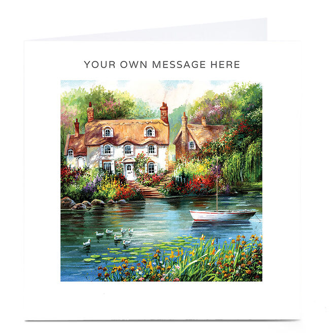 Personalised Card - Riverside scene