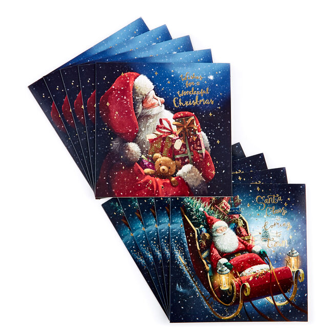 Charity Christmas Cards - Santa Claus (Pack of 16)