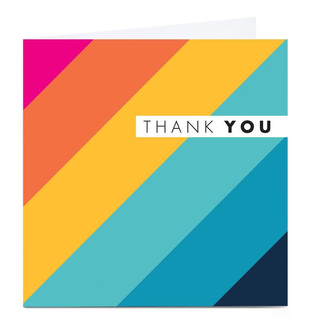 Personalised Hello Munki Thank You Card - Stripes