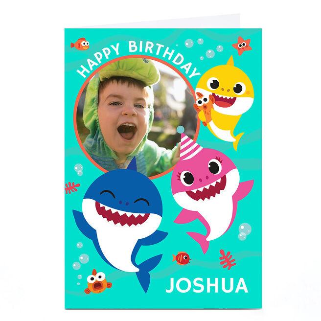 Photo Baby Shark Birthday Card - Any Name