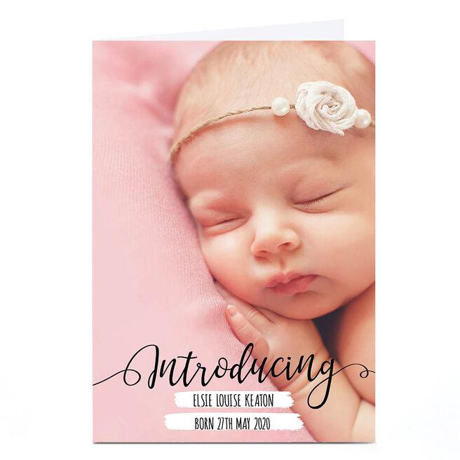 New Baby Photo Card - Full Photo