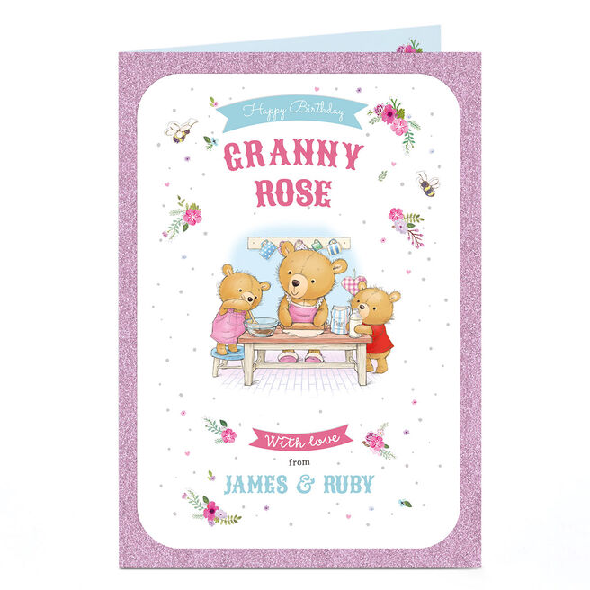 Personalised Any Occasion Card - Three Bears