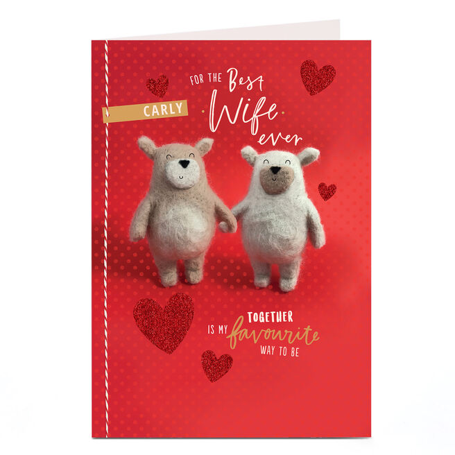 Personalised Valentine's Card - For The Best Wife