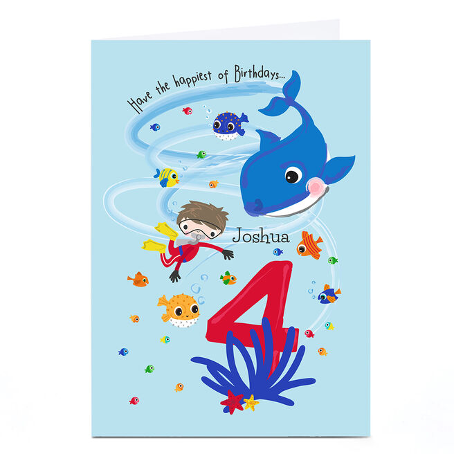 Personalised Rachel Griffin Birthday Card - 4, Happiest Of Birthdays