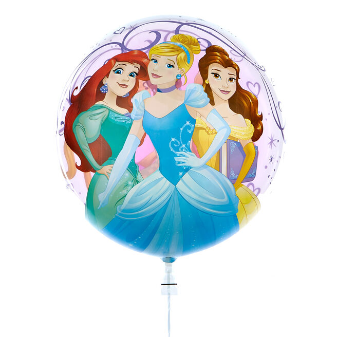 22-Inch Bubble Balloon - Disney Princesses - DELIVERED INFLATED!