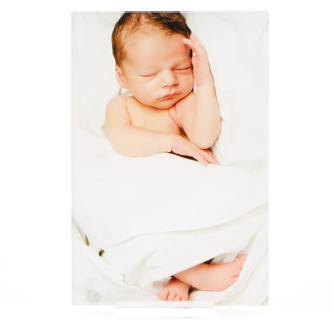 Personalised Acrylic Print - 6x4 Inches (Portrait)
