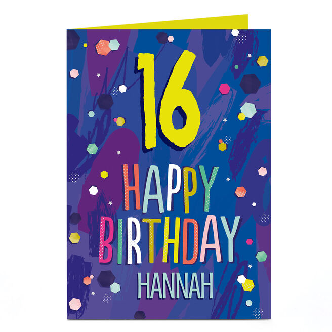 Personalised Birthday Card - Happy Birthday Spots, Any Name