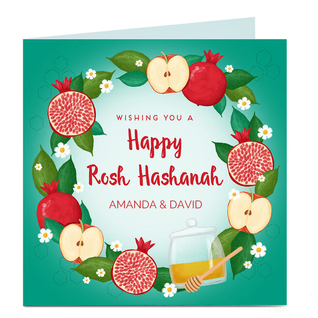 Personalised Rosh Hashanah Card - Fruit & Honey