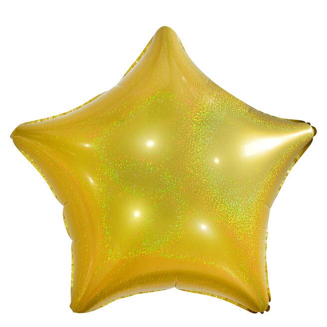 Gold Star Foil Helium Balloon