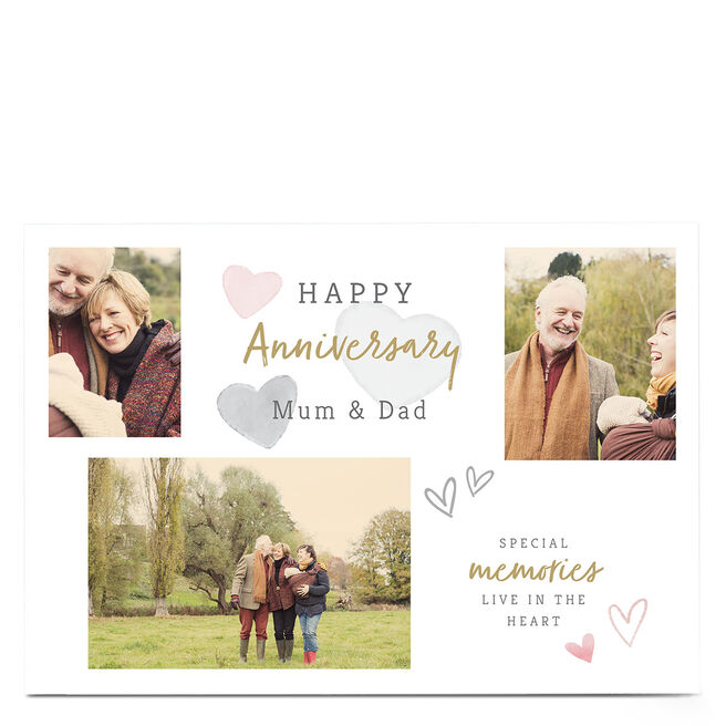 Photo Anniversary Card - Special Memories Live In The Heart