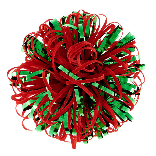 Luxury Red & Green Gift Bow