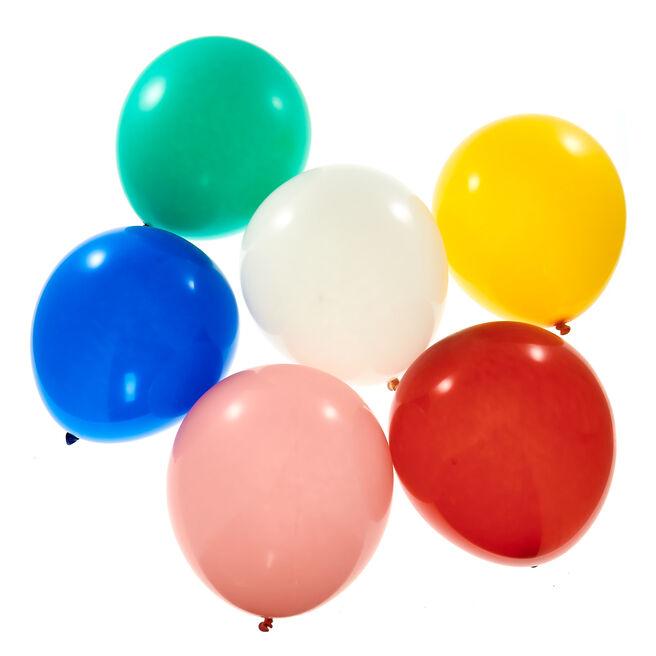 50 Premium Helium-Quality Latex Balloons - Multi-Coloured