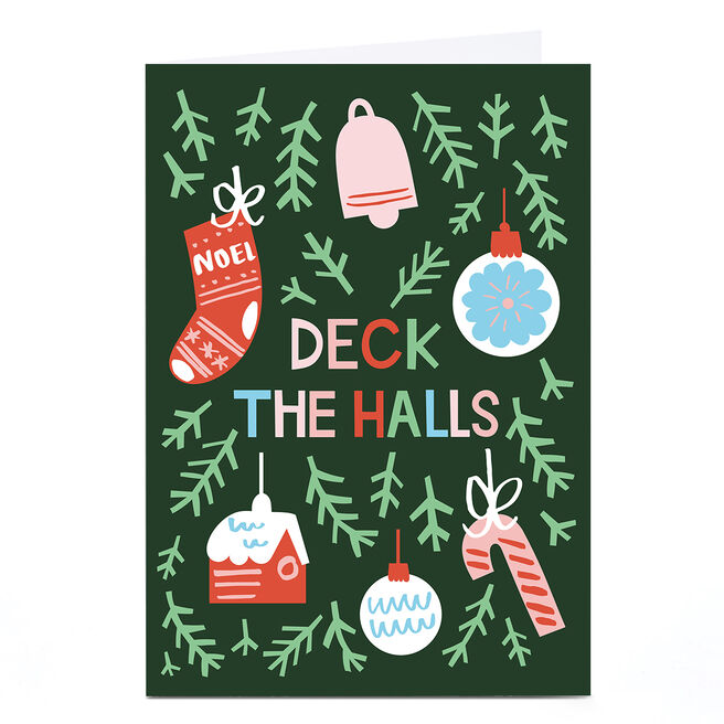 Peronalised Ashley Le Quere Christmas Card - Deck the Halls