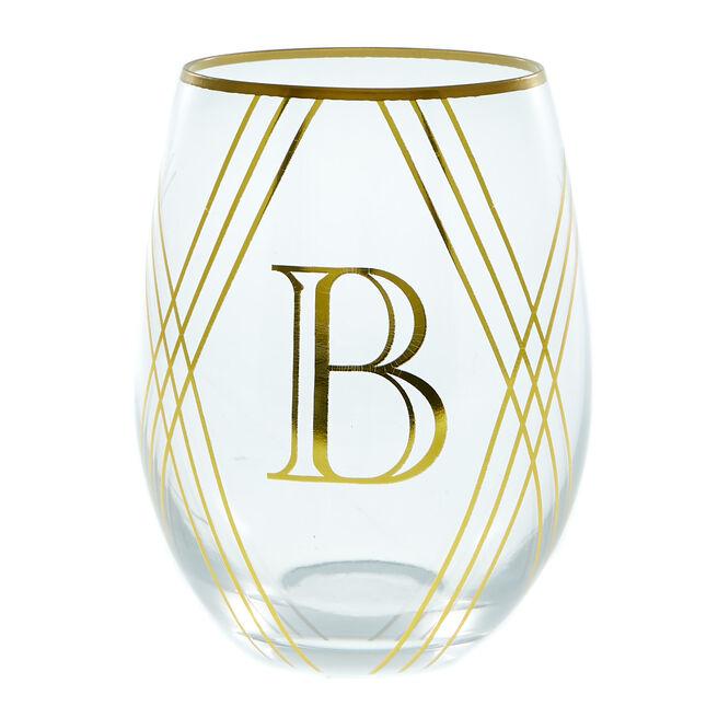 Letter B Glass Tumbler