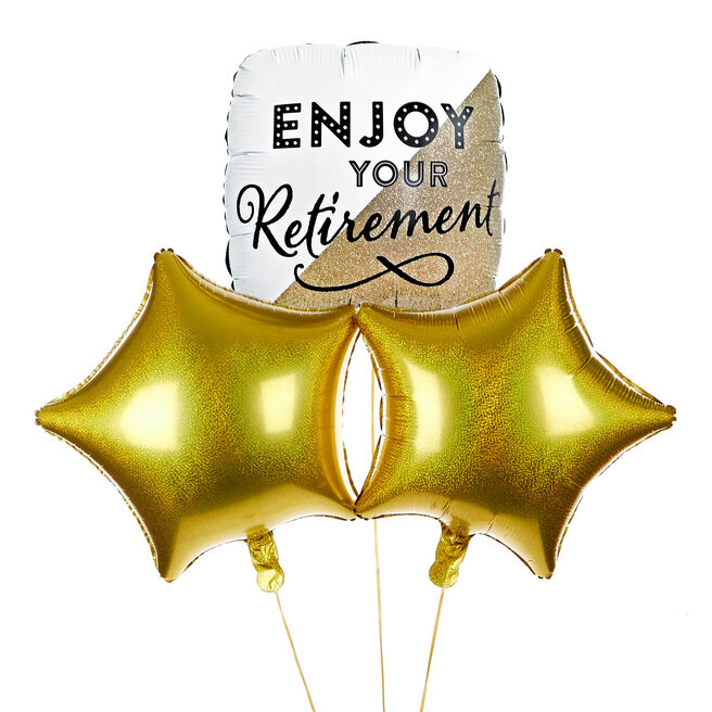 Enjoy Your Retirement Balloon Bouquet - The Perfect Gift!