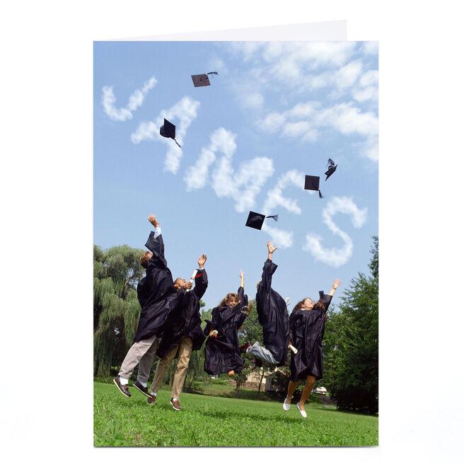 Personalised Graduation Card - Hat Throw