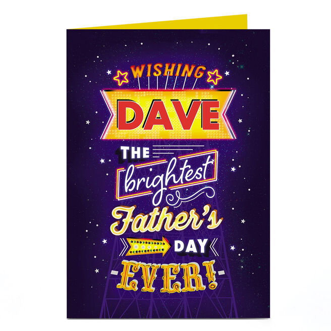 Personalised Father's Day Card - Brightest Father's Day