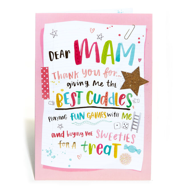 Birthday Card - Dear Mam
