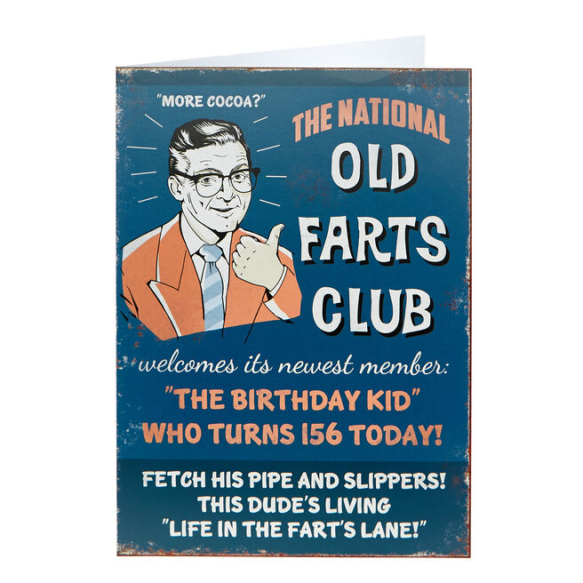 Birthday Card - Old Farts Club