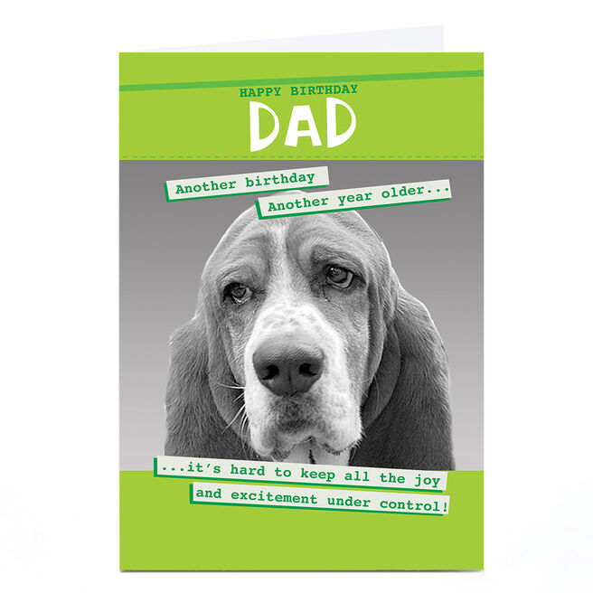 Personalised Quitting Hollywood Birthday Card - Dad, Dog