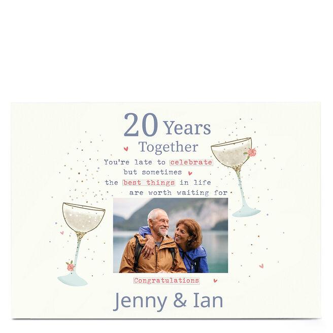 Photo Anniversary Card - Worth Waiting For