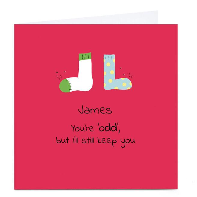 Personalised Cory Reid Birthday Card - You're Odd...