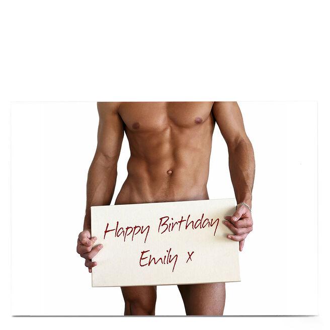 Personalised Birthday Card - Birthday Hunk
