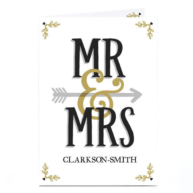 Personalised Wedding Card - Mr & Mrs