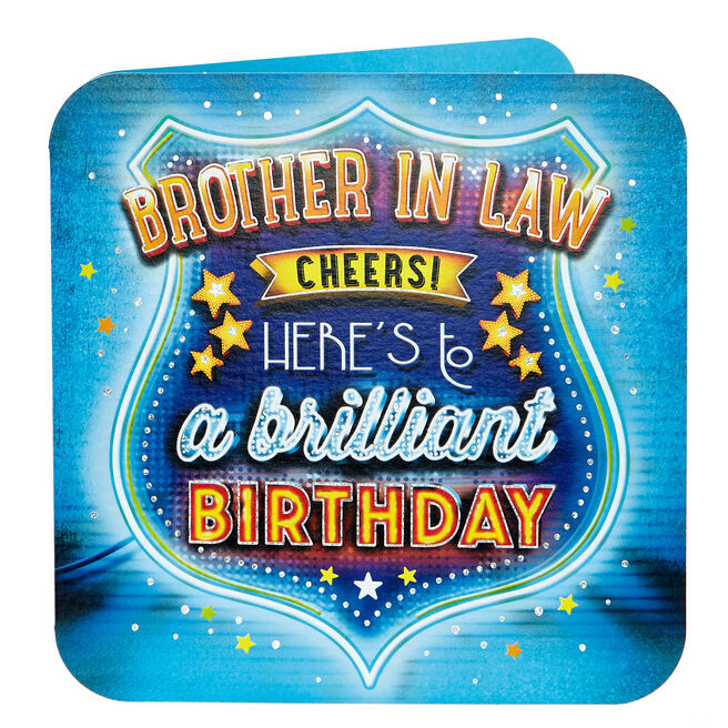 Birthday Card - Brother In Law Cheers