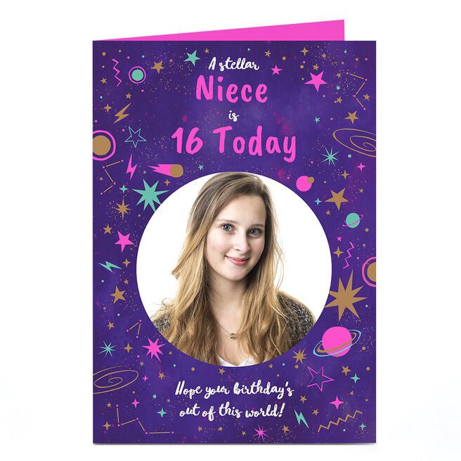 Photo Birthday Card - Out Of This World Any Age